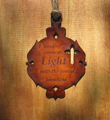 the original crown lantern design leather christian ornament