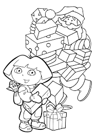 smiling santa christmas coloring page for kids christmas
