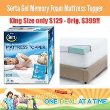 Gel Memory Foam Topper Kohl U0027s Serta King Size Gel Memory Foam Mattress Topper 129