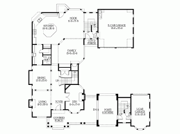 u shaped house eplans new american house plan u shaped home with unique floor