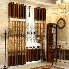 Exam Room Curtains Brown Lace Patterned Living Room Curtains