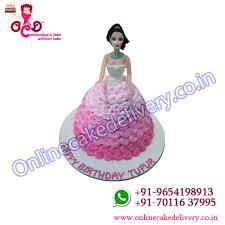 barbie doll birthday cake customised cakes delhi order cake