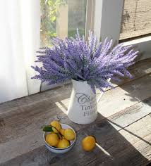 Flowers For Home Decor Heart To Heart Artificial Flower Lavender Bouquet For Home Decor