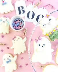darling halloween ghost sugar cookies tinselbox