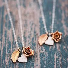 rose gold silver necklace images Delicate gold and silver mixed charm necklace by j s jewellery jpg