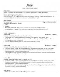 sample project list for resume resume for study