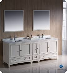 84 inch double sink bathroom vanities fresca oxford collection 84 antique white traditional double sink