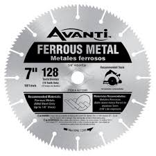 Circular Saw Blade For Laminate Flooring Avanti 7 In X 128 Teeth Ferrous Metal Cutting Saw Blade A07128r