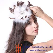 june u0027s young women feather fascinator hats cocktail party white