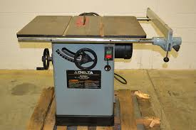 delta table saw for sale delta 34 807 10 tilting table saw the equipment hub