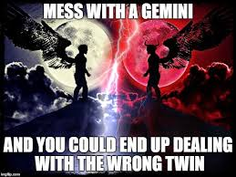 Gemini Meme - so never mess with a gemini you never know which one you will get
