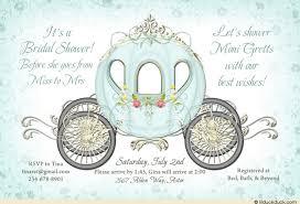 bridal card fairytale cinderella bridal shower invitation custom royal