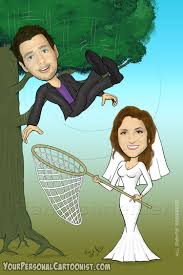 caricatures for wedding invitations your personal cartoonist