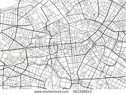 map vector black white vector city map berlin stock vector 563308813