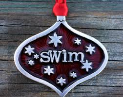 swim team ornament etsy