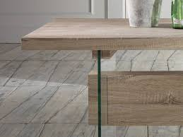 Schreibtisch Aus Eiche Schreibtisch Konsole Aus Eichenholz Und Glas