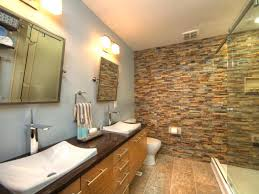 spectacular and natural stone bathroom ideas gray fabric window