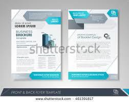 vector brochure flyer blue colour design stock vector 351407096
