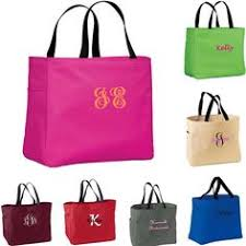 personalized bags for bridesmaids 6 personalized bridesmaid totes in black navy hot pink or