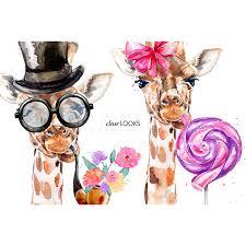 giraffes clip art father u0027s day clipart