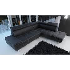 canapé simili cuir noir canapé d angle daylon