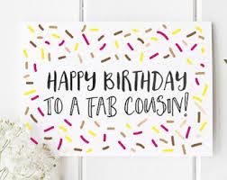 cousin birthday card cousin birthday card etsy