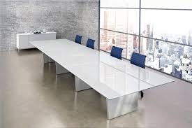 Large Conference Table Large Glass Steel Conference Table Ambience Doré