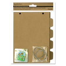 chipboard albums buy the kraft chipboard album with tabs by recollections at