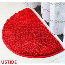 Half Round Kitchen Rugs Buy Ustide Soft Shag Chenille Rug Camel Kitchen Rug Set Washable