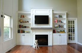 Fireplace Bookshelves by Living Room Built Ins