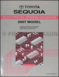 2007 toyota sequoia wiring diagram manual original