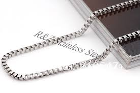 men necklace chains images Wholesale 316l stainless steel box chain 316l stainless steel jpg