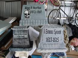 gravestones for halloween styrofoam cooler tombstones another one without a great tutorial