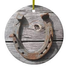 horseshoe ornaments rural horseshoe hanging pendant ceramic ornament