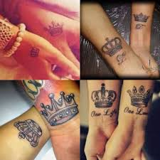husband and wife my king his queen onelove sta tattoos