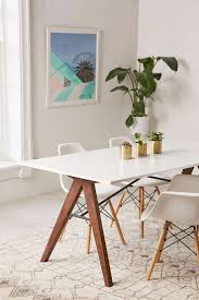 White Dining Table And Coloured Chairs Dining Room Design Metal Dining Table Industrial Tables Modern
