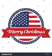 usa flag st ribbon merry stock vector 531858133