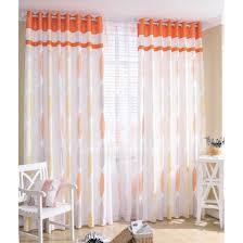 Orange And White Curtains Fantastic Orange And White Curtains And Sheer Curtain Ideas For