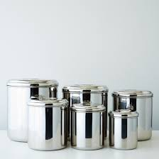 canisters images stainless steel canisters set of 6 on food52