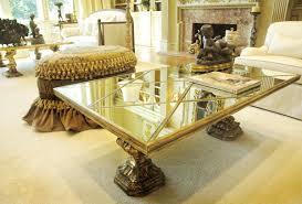 Mirrored Top Coffee Table Furniture Rectangular Marble Coffee Table Mirrored Coffee Table