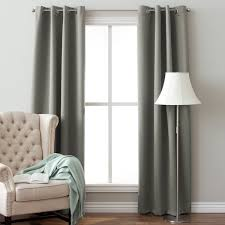Blackout Curtain Panels With Grommets Arlo Blinds 64 Inch Insulated Grommet Blackout Curtain Panel Pair