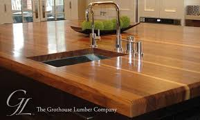 custom walnut wood countertop in boston massachusetts