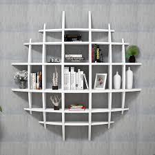 white gloss wall shelving unit