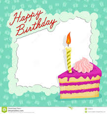 happy birthday cake card stock vector image 50989832