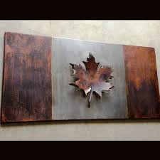 Candaian Flag One Of A Kind Steel Work Canadian Flag Hand Forged In Canada