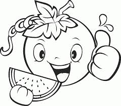 fruits and vegetables coloring pages for kids printable coloring