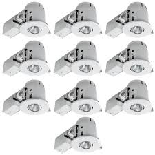 led recessed ceiling lights home depot globe electric 4 in white dimmable recessed lighting kit 10 pack