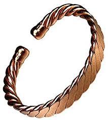 magnetic bracelet with copper images Magnetic men 39 s heavy flattened copper bracelet mcb023 amazon co jpg