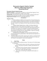 examples of outlines for research papers speech outline template