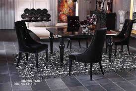 Contemporary Dining Table Set VG Modern Dining - Black lacquer dining room set